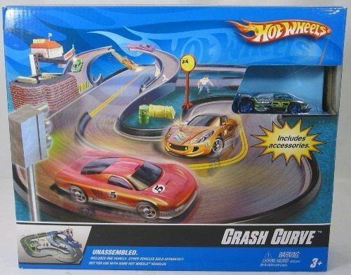 Hot Wheels - M9196 - Crash Curve - City Track Set incl. 1 Hot Wheels & d' accessoires