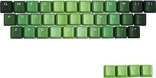 TINTON LIFE Gradient 37 Keys PBT Backlit Keycaps Set for Mechanical Keyboard(Gradient Green)