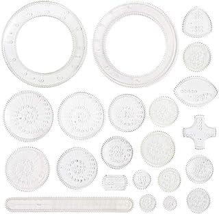 Artibetter Lot de 22 règles de dessin - Règle de peinture - Motifs de fleurs - Pour bricolage - Enfants - Scrapbooking