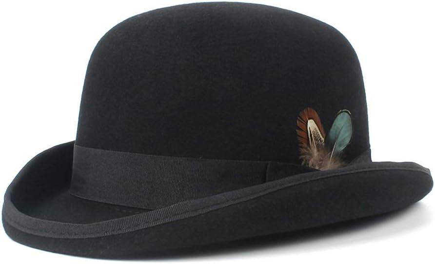 Men's 100% Wool Under blast Tulsa Mall sales Bowler Hat Cowboy Cap Women Equestrian P Fashion