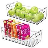 mDesign Juego de 2 cajas para nevera con asas – Organizador de frigorífico...