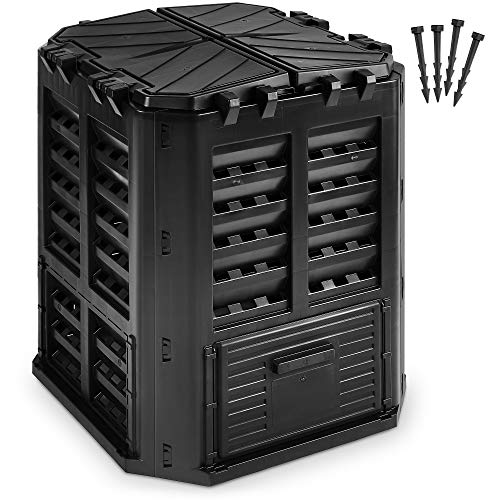 Garden Composter Bin Made from Recycled Plastic – 95 Gallons (360Liter) Large Compost Bin - Create Fertile Soil with Easy Assembly, Lightweight,...