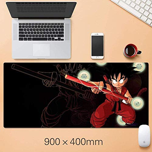 ZCP Gaming Mouse Pad,for Dragon Ball Z Extended Large Keyboard Mouse Mat Sun Wukong 900x400mm Computer Dormitory Table Pad for Laptop Home Office Working (Color : A) (Color : A)