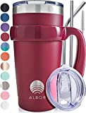 ALBOR Triple Insulated Stainless Steel Tumbler 20 oz Riesling Coffee Travel Mug With Handle