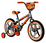 Mongoose Skid Boy's Freestyle BMX Bike with Training Wheels, 16-Inch Wheels,...