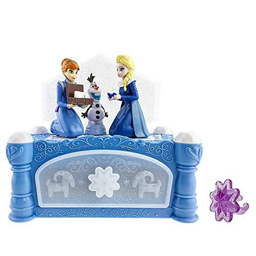 Teri Princess Music Box Cute Romantic Creative Music Box Joyero Azul for Novia Niño Cumpleaños/Día de San Valentín (Color : Blue)