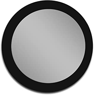 Mirrorshome Round Black Glass Frame Bathroom Vanity Modern Wall Mounted Bedroom Mirror 32-inch Diameter Circle (24 inch X 24 inch)