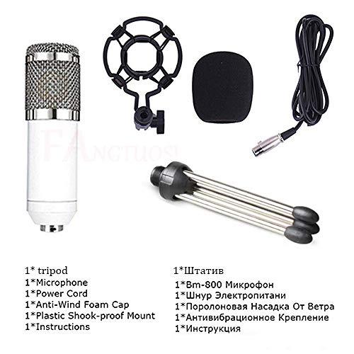 JVCAN BM 800 Microfoon Condensator Geluidsopname Microfoon, Shock Mount Voor Radio Braodcasting Zingen Opname KTV Karaoke Mic
