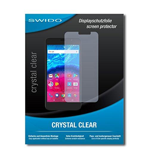 SWIDO Schutzfolie für Archos Core 55 [2 Stück] Kristall-Klar, Hoher Festigkeitgrad, Schutz vor Öl, Staub & Kratzer/Glasfolie, Bildschirmschutz, Bildschirmschutzfolie, Panzerglas-Folie