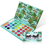 Docolor Tropical Eyeshadow Palette Docolor Highlight & Contour Pro Makeup Palette + 5D Fake Eyelashes Dramatic Mink Eyelashes Christmas Gift High Pigmented Eye Shadow Easy to Blend