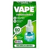 Vape Specialist Vape Ricarica Liquida Verdessenza, Protegge Da Zanzare Comuni E Tigri, Con Olii Essenziali Di Eucalipto, 60 Notti Di Protezione - 30 g