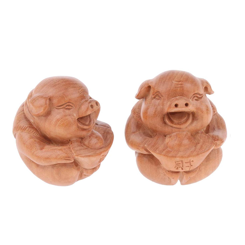 ピニオン絶対に被るPerfeclan マッサージボール 指エクササイズ 1ペア 木製 可愛い 豚
