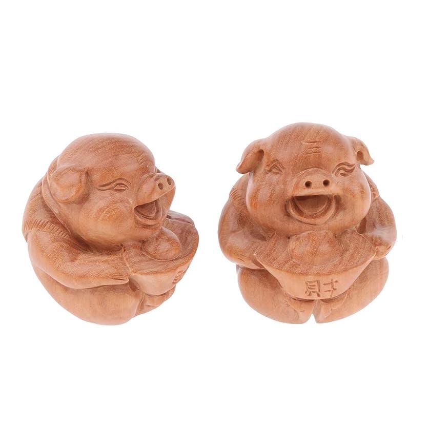 着飾る花束医療過誤Perfeclan マッサージボール 指エクササイズ 1ペア 木製 可愛い 豚