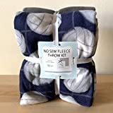 Volleyball Navy Anti-Pill Premium No-Sew Throw Fleece Fabric Kit (72x60)