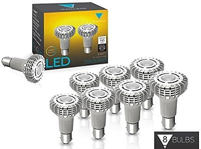 TriGlow # 1383 Miniature Reflector Elevator Led Light Bulbs, 3-Watt 12V BA15S Base Lamps, CREE 3000K (Warm White)