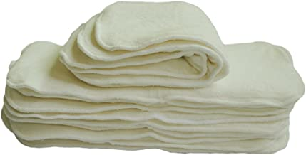 ALVABABY Cloth Diaper Inserts,4 Layers Rayon from Bamboo Inserts,Absorbent 12pcs 12MB