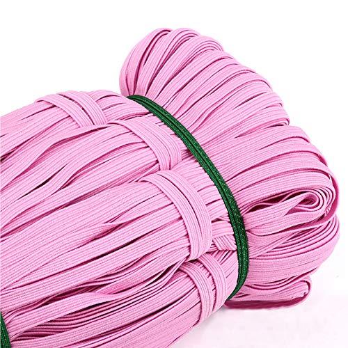 Braided Elastic Band, 33 Yards Length 1/4 Inch Width Elastic Rope Elastic Cord Heavy Stretch High Elasticity Knit Elastic Band for Sewing Crafts DIY, Bedspread, Cuff (Color 12)