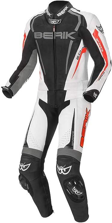 Berik Race X 2 Teiler Motorrad Lederkombi 48 Schwarz Weiß Auto