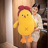 Zhuohuiyang Cute Cute Chicken Doll Plush Toy Pillow Chicken Large Doll Small Yellow Chicken Doll Super Cute Mini Children Plush Toy Gifts (60CM,Chick Doll)