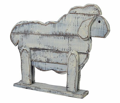 chiccie bois Mouton Molly – 51 cm – Vintage Shabby Chic Figurine Statue