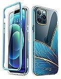 i-Blason iPhone 12 Pro Max Hülle Glitzer Handyhülle 360 Grad Case Bling Schutzhülle Bumper Cover [Cosmo] mit integriertem Displayschutz 6.7 Zoll 2020 Ausgabe (Schmetterling)