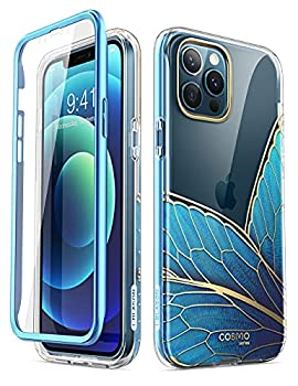 i-Blason Cosmo Series Case for iPhone 12 Pro Max 6.7 inch  2020 Release  Slim Full-Body Stylish Protective Case with Built-in Screen Protector  Butterfly