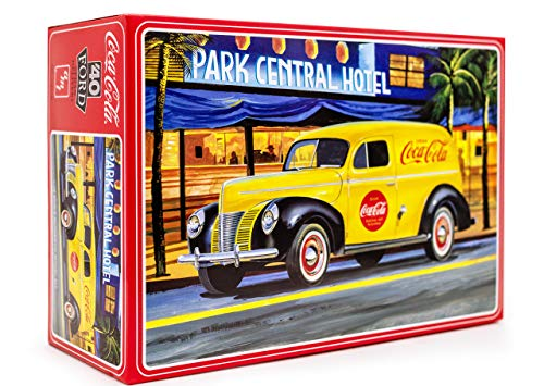 AMT 1940 Ford Coca-Cola Delivery Sedan - 1/25 Scale Model Kit - Buildable Vintage Vehicles for Kids and Adults