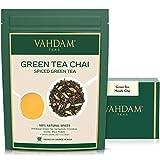Green Tea Masala Chai - 200 g (Juego de 2) - Mezcla perfecta de hojas de té verde natural, canela, cardamomo, clavo y pimienta negra.