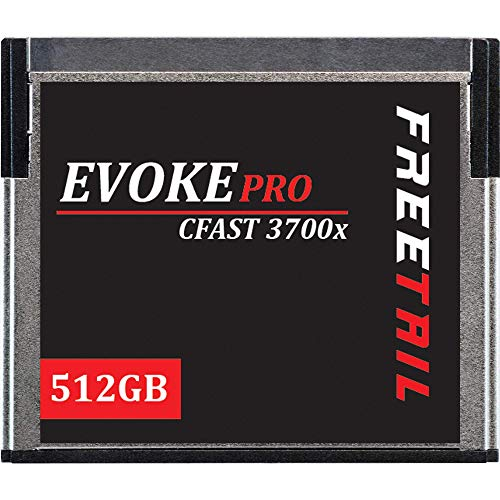 FreeTail Evoke Pro 512GB CFast 2.0 Card Speeds up to 560MB/s, VPG 130 Made for Canon, Blackmagic Design, Hasselblad, and Phantom Devices (FTCF512A37P)