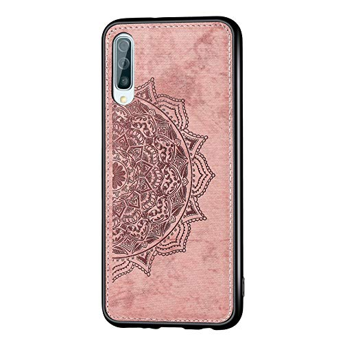 Lavender1 - Funda para Samsung Galaxy A50, diseño de mandala con flores en relieve, patrón de mariposa, resistente a los golpes, funda de silicona fina de 360 grados Rosa. 42