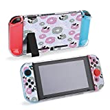 SUPNON Carry Case Compatible with Nintendo Switch, Ultra Slim Hard Shell, Protective Carrying Case for Travel - Background and Donuts for Bed Linen, Baby Design36466