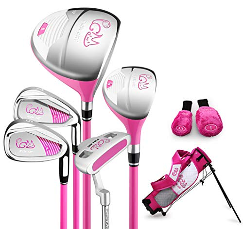 kofull Kinder Golfschläger-Set, komplettes Kinder-Golf-Set für Kinder von 3–12 Jahren (rosa, 3–5 Jahre alt (95–115 cm hoch)