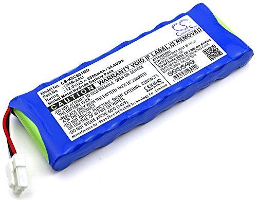 CS-KZC601MD Batería 2000mAh Compatible con [KENZ CARDICO] Cardico 601, ECG-601, para [SUZUKEN] Kenz ECG 305, Kenz ECG-305 sustituye 10HR-AAU