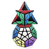 ROXNEDA Speed Cube Set, Cubos de Velocidad de Pirámide Megmainx Cube, Giro Fácil y Juego Suave & Sólido Duradero ABS, 2 Pack