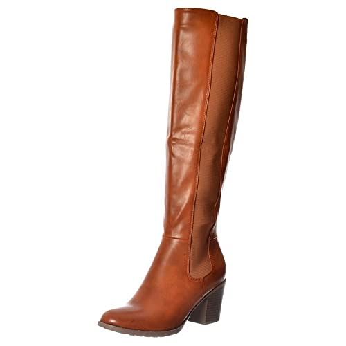 2018 sneakers fashion styles get new Knee High Brown Boots: Amazon.co.uk
