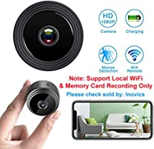 Inovics Hi-focus Full HD Mini Spy Wifi Magnetic Live Stream Night Vision IP Wireless 1080P Audio Video Hidden Nanny Camera for Home Offices Security (Black)