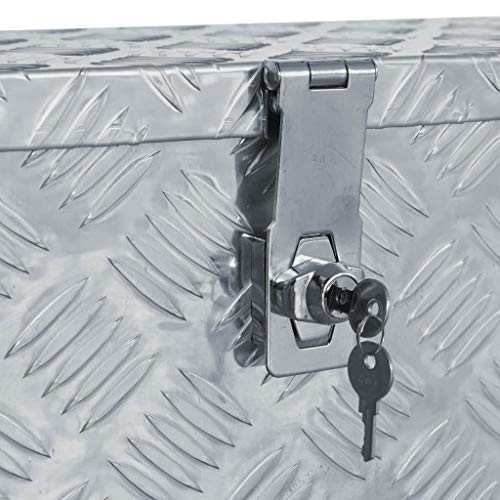 vidaXL Aluminiumkiste 61,5×26,5x30cm Alu Box Koffer Werkzeugbox Transportkiste - 5