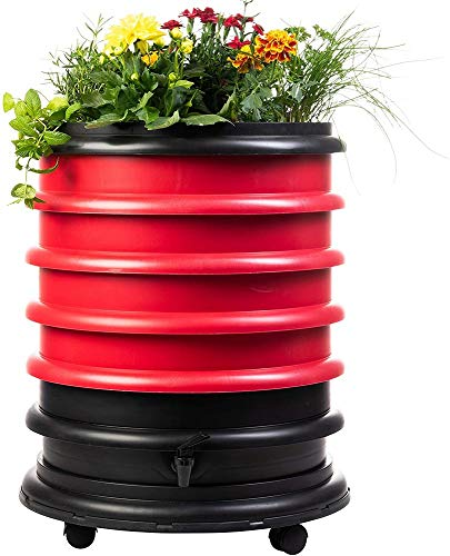 Best Price WormBox WB41R Wormery Composter 4 Red Plus Planter-72 litres, 4 Trays + Planter