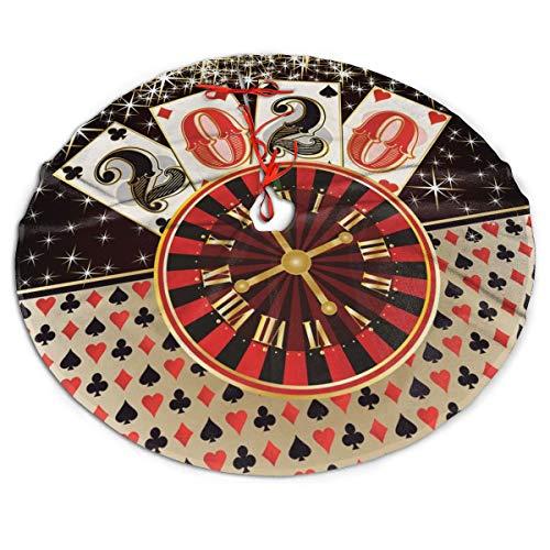 Christmas Poker Casino New 2020 Year Xmas Tree Skirt Xmas Decor Xmas Ornaments 3 Size