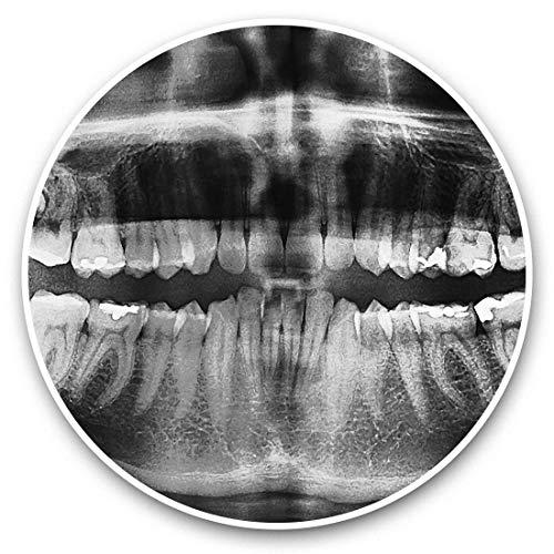 Impresionantes pegatinas de vinilo (juego de 2) 7,5 cm (bw) – Dientes Dentales Dentales Dentistas Divertidas calcomanías Dentales Dentales Divertidas para Ordenadores Portátiles, Tabletas, Equipaje, Libros de chatarra, Neveras, Regalo fresco #42795