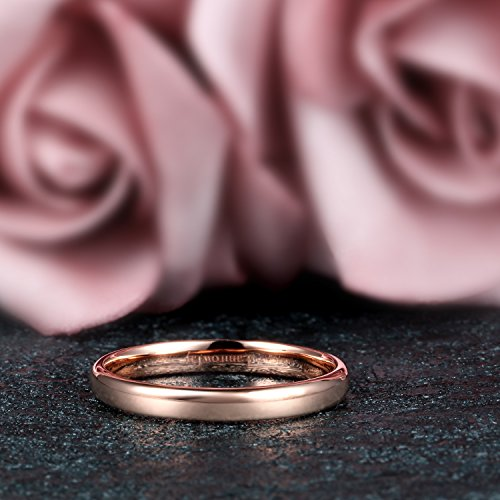 Lamrowfay Plain Comfort-fit 14K Gold Wedding Band, 3mm
