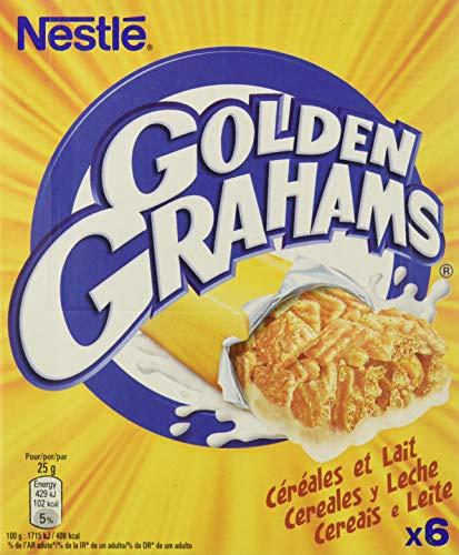 Nestlé 1664608_16 Golden Grahams Barritas de cereales tostados con leche, 25 gr, Paquete de 8 x 6 unidades (2.4 kg)