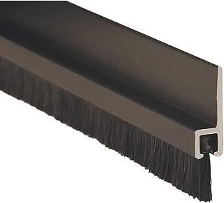 Double Door Weatherstrip, Brush, 7ft L, Blk