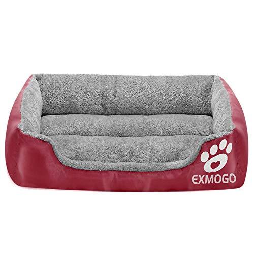 EXMOGO Hundebett Katzenbett, weiche und Bequeme Haustierbetten mit PP-Baumwolle, geeignet für kleine, mittlere und große Haustiere L: 69 x 53 x 15 cm (27