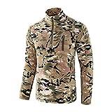 XIANGHUI Camisa Táctica de Manga Larga para Hombre Camisa Militar Camisa de Combate al Aire Libre Camisa de Combate Táctica con Cremallera