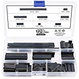 ARCELI 120Pcs 2.54mm Straight Single Row PCB Board Femmina Pin Header Socket Connector Strip Assortimento Kit per Arduino Prototype Shield (singola fila)