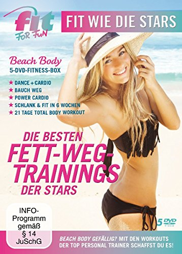 Fit for Fun - Fit wie die Stars: Die besten Fett-Weg Trainings [5 DVDs]