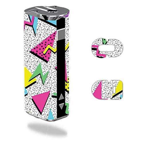 Decal Sticker Skin WRAP Retro 90's Yellow Blue and Pink Design for Eleaf iStick 30W