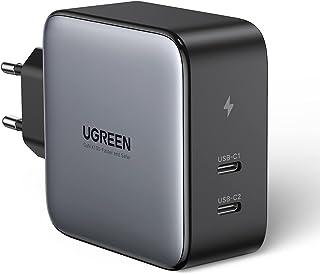 UGREEN 100W USB C Voeding 2 Poorten USB C Charger PD Lader met PPS GaN Tech Compatibel met MacBook Pro, MacBook Air, iPhon...