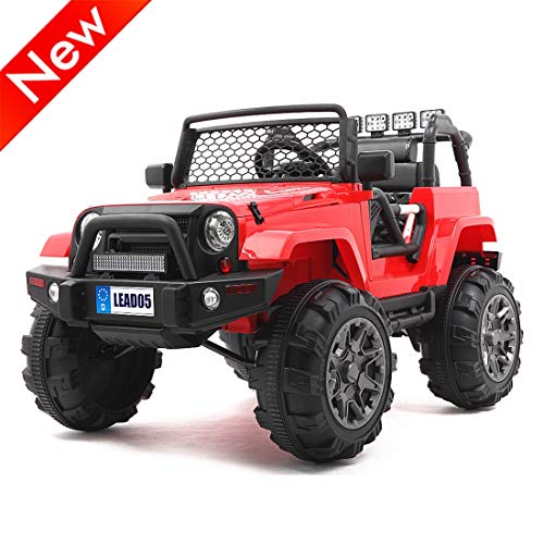 Best Prices! Jresboen Upgraded Version Ride on Truck with Remote Control, Kids Electric Vehicle Car ...